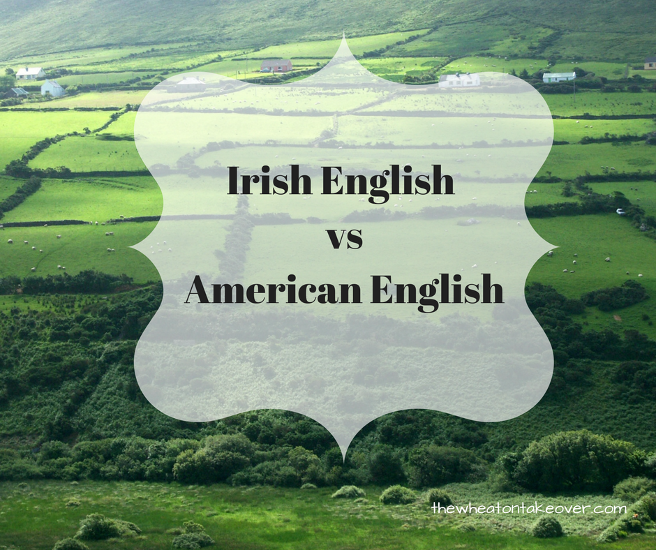 Irish English vs American English- Although Gaelic is the official language of Ireland, English is the secondary language and the most frequently spoken language among the Irish. English is my primary language and the primary spoken language in Ireland. It is amazing how much the English language differs in Europe and Ireland.
