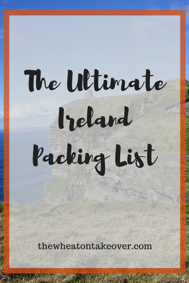 "Ireland Packing List - As far as the weather goes, Ireland can be a fickle place. I stay prepared no matter what time of year it is. The first question we always get from visitors is, ""What should we pack?"" I have created an Ireland packing list that contains those items that are specific to Ireland that a visitor should NOT travel without."